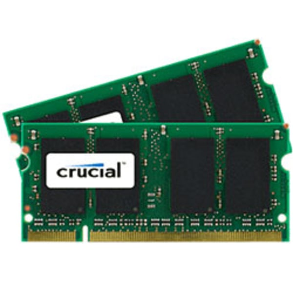 Crucial DDR2 Memory Upgrade Kit For Notebook Computers, 2GB (1GB x 2) SODIMM, PC2-6400 (800 MHz)