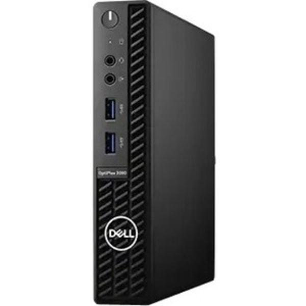 Dell OptiPlex 3000 3080 Desktop Computer - Intel Core i3 10th Gen i3-10100T Quad-core (4 Core) 3 GHz - 8 GB RAM DDR4 SDRAM - 128 GB SSD - Micro PC - W