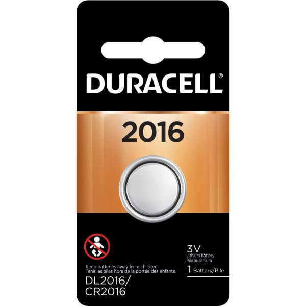 Duracell Duralock 2016 Lithium Battery - For Glucose Monitor, Electronic Device, Security Device, Health/Fitness Monitoring Equipment - CR2016 - 3 V D