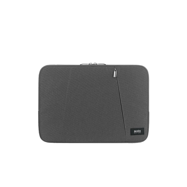 Solo Oswald Computer Sleeve For 13.3  Laptops/Tablets, Gray, SLV1613-10