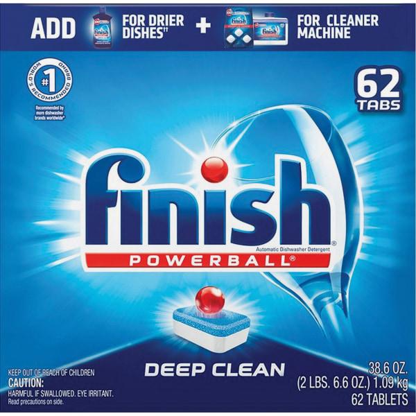Finish Powerball Dishwasher Tabs - 62 / Box - Red, White, Blue