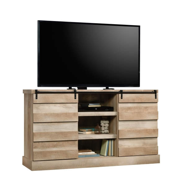 Sauder Cannery Bridge Credenza For 60  Televisions, Lintel Oak