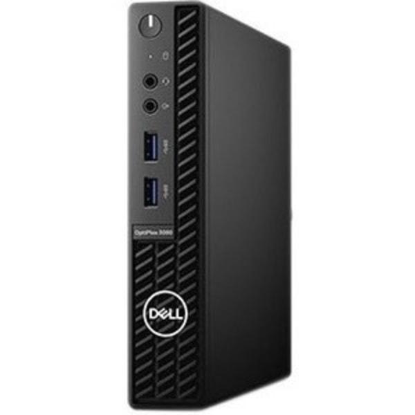 Dell OptiPlex 3000 3080 Desktop Computer - Intel Core i3 10th Gen i3-10100T Quad-core (4 Core) 3 GHz - 4 GB RAM DDR4 SDRAM - 500 GB HDD - Micro PC - W