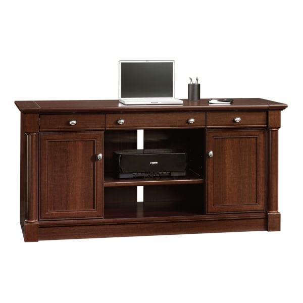 Sauder Palladia Collection 62 W Computer Credenza With Slide-Out Desktop, Select Cherry