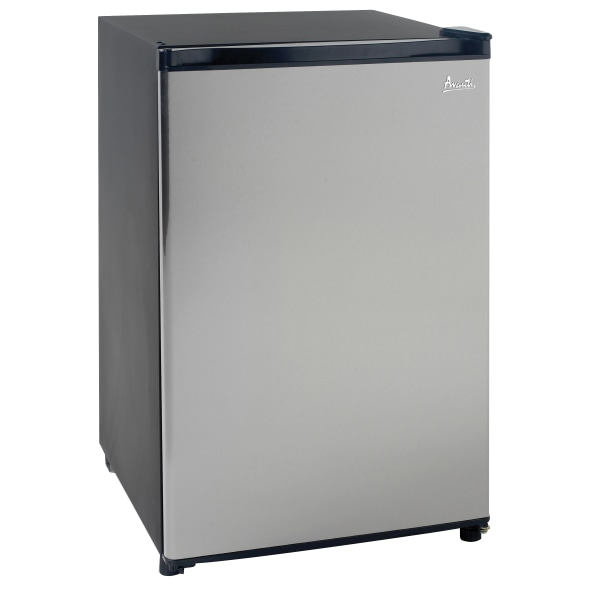 Avanti 4.4 Cu Ft Refrigerator, Black/Stainless Steel