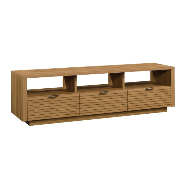Sauder Harvey Park Entertainment Credenza For 70  Televisions, Pale Oak