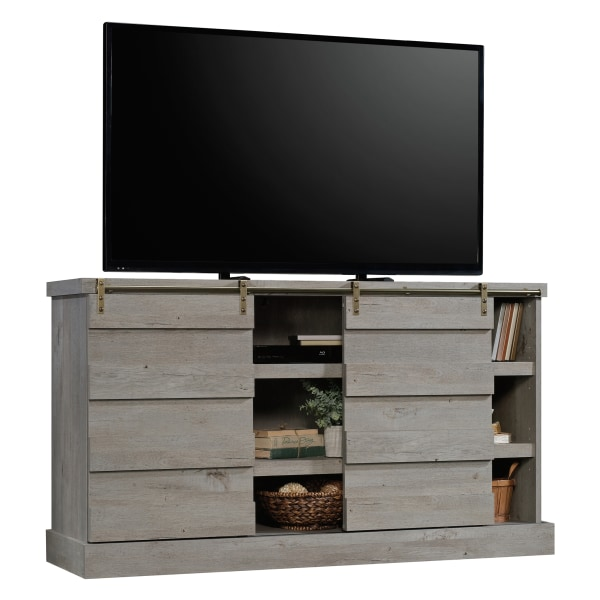 Sauder Cannery Bridge Credenza For 60  Televisions, Mystic Oak