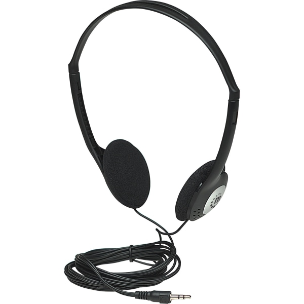 Manhattan Lightweight Stereo Headphones with Cushioned Earpads - Long cord easily reaches desktop and notebook computers and other devices