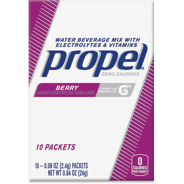 Propel Water Beverage Mix Packets with Electrolytes and Vitamins - Powder - Berry Flavor - 0.08 oz - 120 / Carton