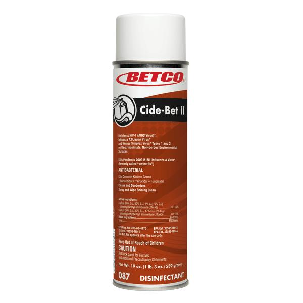 Betco� Cide-Bet Aerosol Disinfectant, Citrus Bouquet Scent, 18 Oz Can, Case Of 12 -  0872300