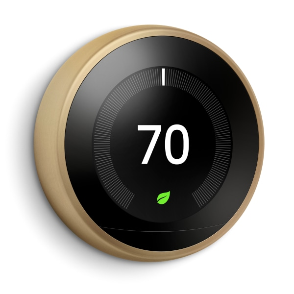 Google Nest Learning Thermostat 3rd Generation - For Tablet, Notebook, Room, Heater, Humidifier, Dehumidifier, Fan, Home, Heat Pump, Smartphone, Cooli