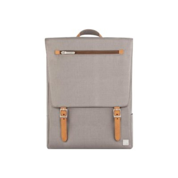 Moshi Helios Lite Slim Laptop Backpack - Titanium Gray for Laptops up to 13  , Weather Resistant, Vegan Leather, RFID Pocket