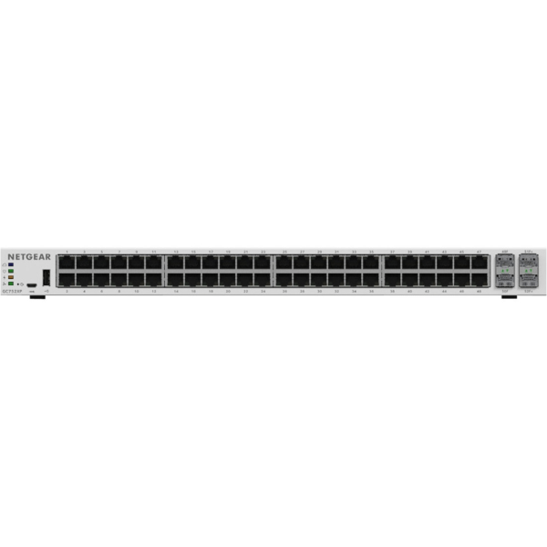 Netgear Insight Managed Smart Cloud Switch - 52 Ports - Manageable - 3 Layer Supported - Twisted Pair, Optical Fiber - Rack-mountable, Desktop - 5 Yea