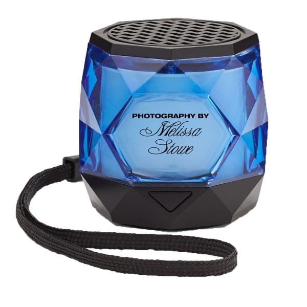 Custom Mini Colorful Diamond Wireless Speaker, Translucent Blue