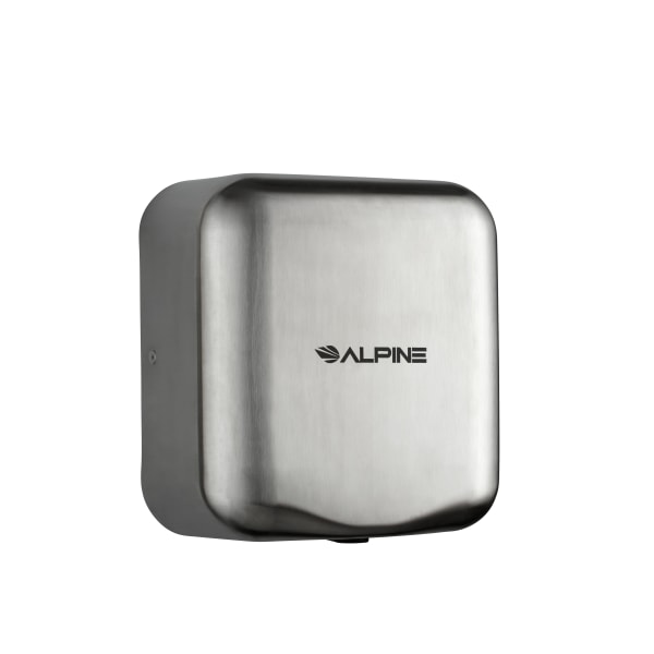 Alpine Industries Hemlock 120 Volt Steel Electric Commercial Automatic Touchless Hand Dryer, Stainless Steel