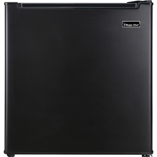 Magic Chef 1.7 cu. ft. Mini Refrigerator - 1.70 ft - Reversible - 208 kWh per Year - Black, White
