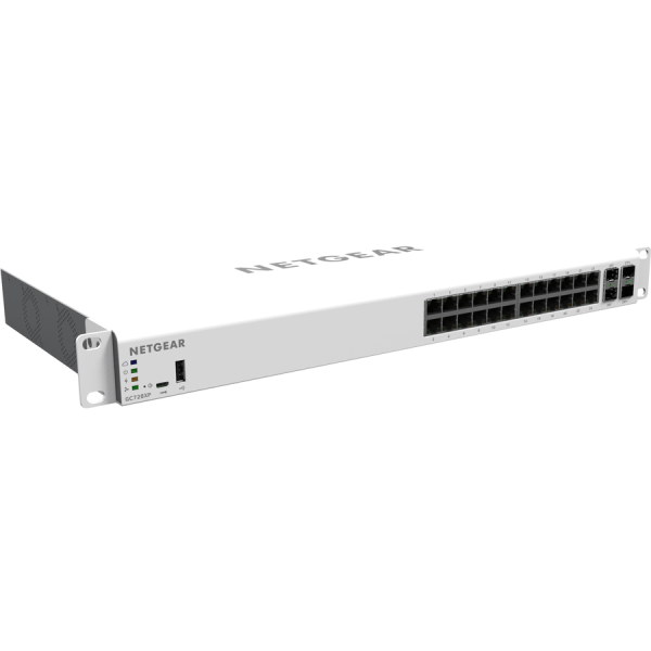 Netgear Insight Managed Smart Cloud Switch - 28 Ports - Manageable - 3 Layer Supported - Modular - Optical Fiber, Twisted Pair - Rack-mountable, Deskt