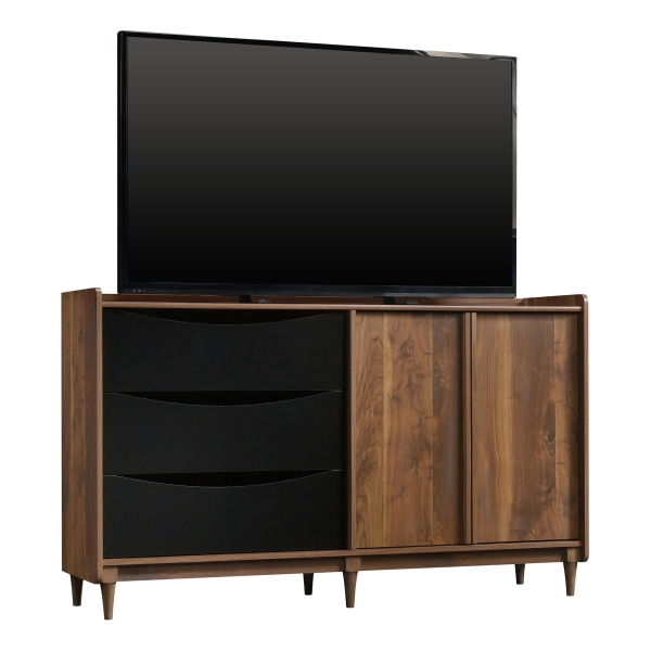 Sauder Harvey Park Entertainment Credenza For 55  Televisions, Grand Walnut