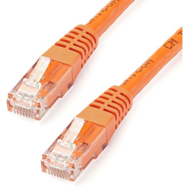StarTech.com 20ft CAT6 Ethernet Cable - Orange Molded Gigabit CAT 6 Wire - 100W PoE RJ45 UTP 650MHz - Category 6 Network Patch Cord UL/TIA - 20ft Oran