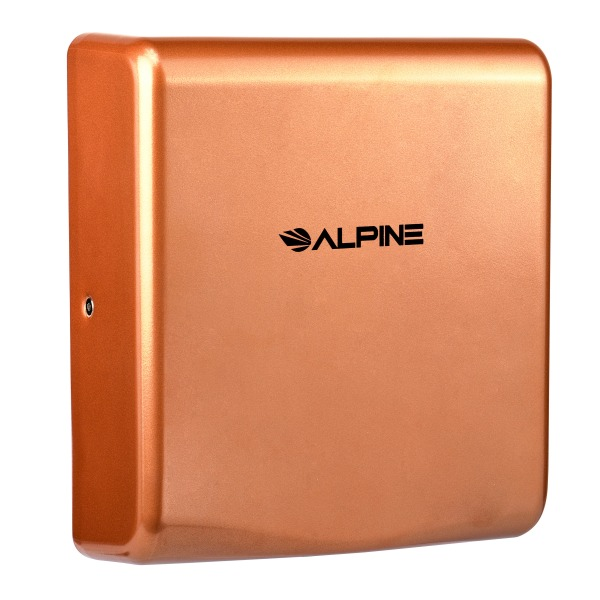 Alpine Industries Willow 120 Volt Steel Electric Commercial Stainless Steel Automatic Touchless Hand Dryer, Copper