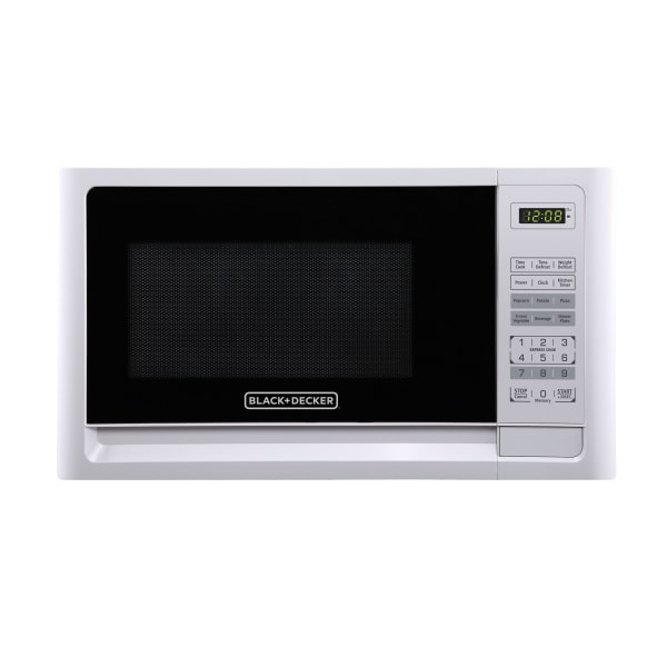 Black & Decker EM031MFO-X1 1.1 Cu Ft Microwave, White