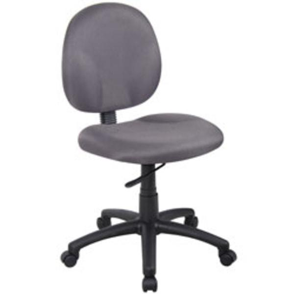 Boss Wide Seat Fabric Task Chair Gray Black Frame Zerbee