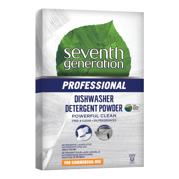 Seventh Generation Professional Free And Clear Natural Automatic Dishwasher Powder, 75-Oz Box