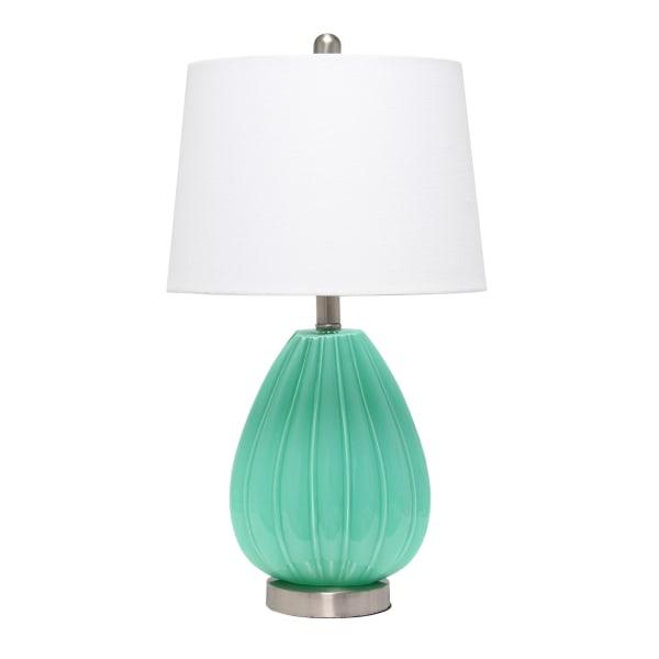 Laila Homelalia Home Pleated Table Lamp 23 1 4 H White Shade Seafoam Base Dailymail