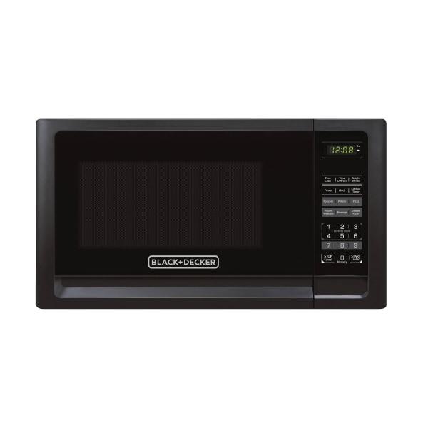 Black & Decker EM720CFO-PM 0.7 Cu Ft Digital Microwave, Black