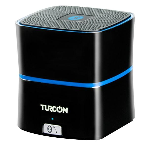 Turcom Portable Wireless Speaker With Enhanced Bass, Black, TS-450