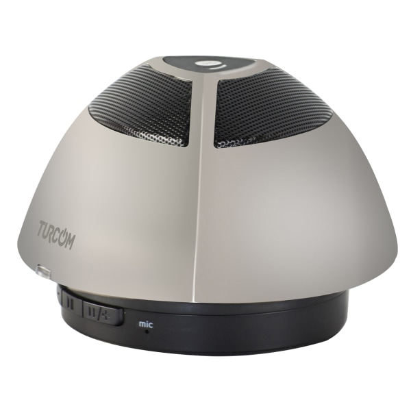 Turcom Bluetooth Wireless Portable Mini Speaker, Gray, TS-452