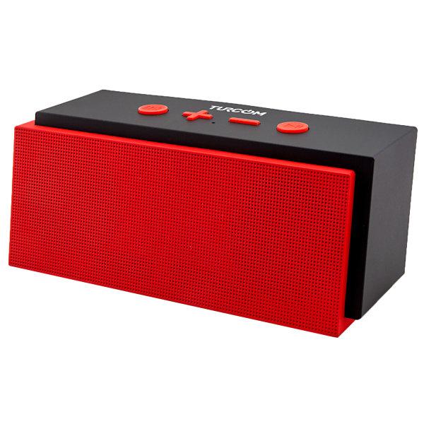 Turcom Bluetooth Wireless Portable Mobile 2.0 Speaker, Red, TS-453