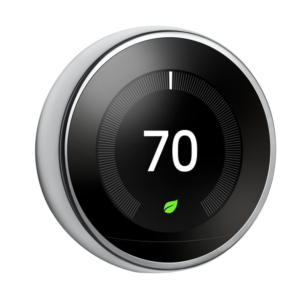 Nest Learning Thermostat 3rd generation - Thermostat - wireless - 802.11b/g/n, Bluetooth 4.0, 802.15.4 - polished steel
