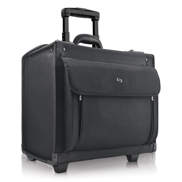 Solo Classic Rolling Catalog Case For 17.3  Laptops, Black