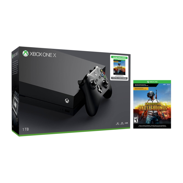 Microsoft� Xbox One X Console With PlayerUnknown's Battlegrounds Bundle, 1TB, Black
