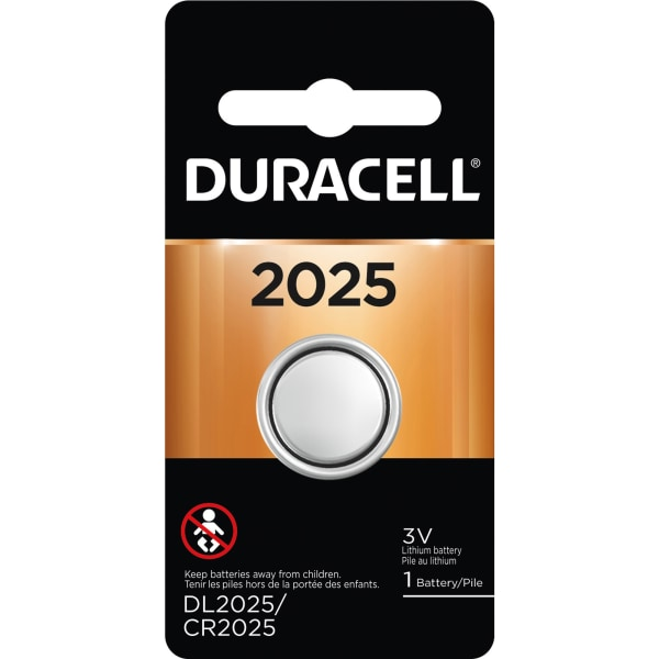 Duracell 2025 Lithium Security Batteries - For Medical Equipment, Security Device, Health/Fitness Monitoring Equipment, Electronic Device - CR2025 - 3