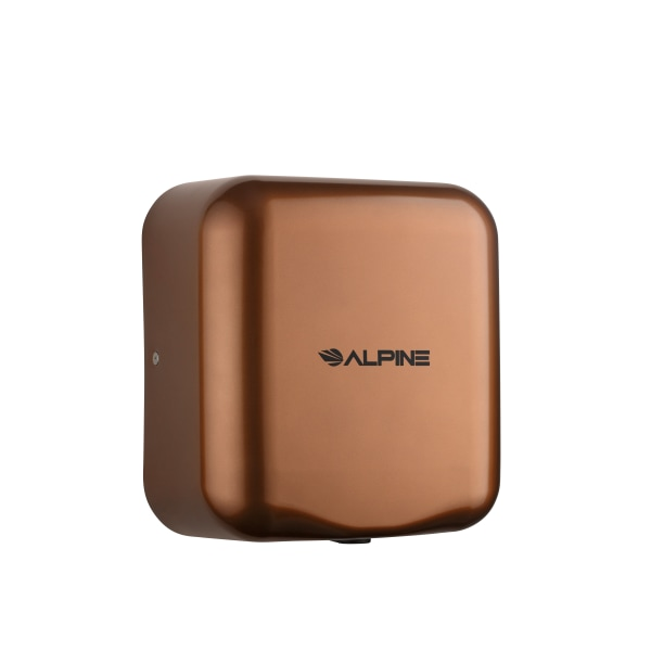 Alpine Industries Hemlock 120 Volt Steel Electric Commercial Automatic Touchless Hand Dryer, Copper