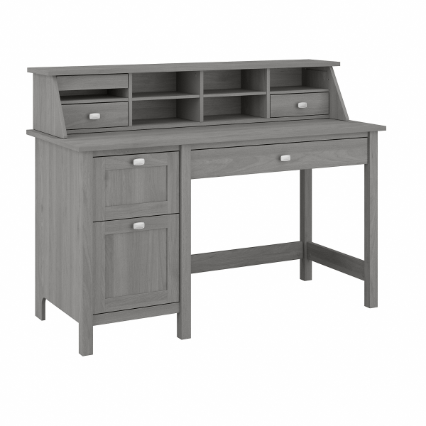 Bush Furniture Broadview 54 W Computer Desk With Drawers And Desktop Organizer, Modern Gray, Standard Delivery