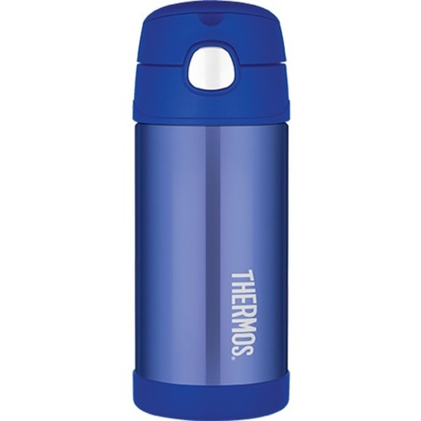 Thermos Blue 12 oz FUNtainer Bottle - 12 oz - Vacuum - Blue