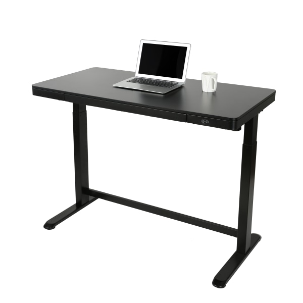 Realspace 48″W Electric Height-Adjustable Standing Desk