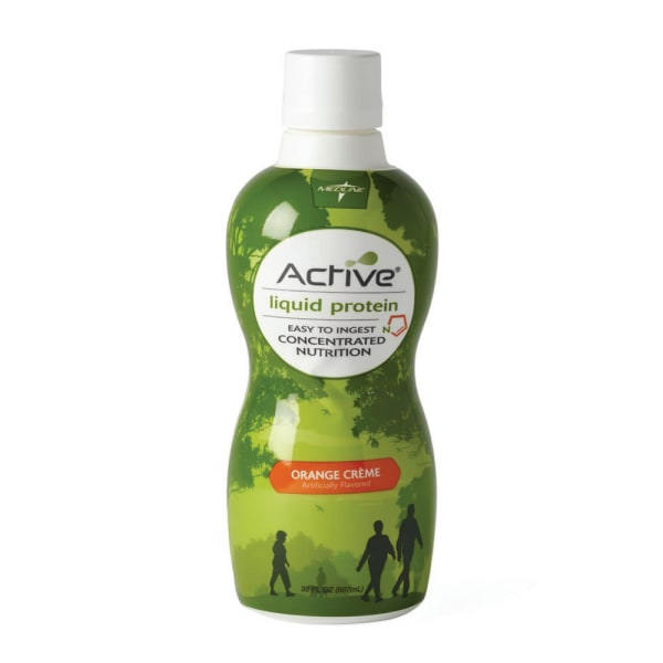 Active Liquid Protein Nutritional Supplements, Orange Cream, 30 Oz, Case Of 4