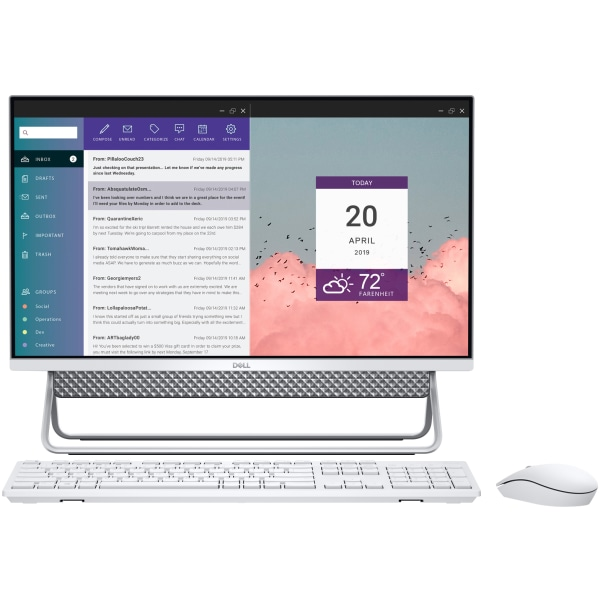 Dell Inspiron 5400 (I5400-3344SLV-PUS) 23.8″ All-In-One Desktop, 11th Gen Core i3, 8GB RAM, 256GB SSD