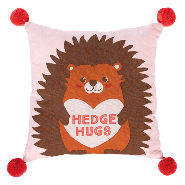 Amscan Hedge Hugs Valentine's Day PIllows, 12  x 12 , Multicolor, Set Of 2 Pillows