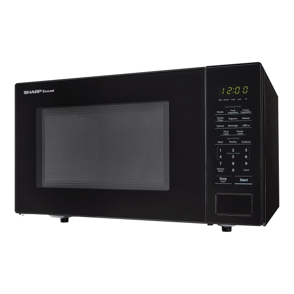 Sharp Carousel 1.1 Cu Ft Microwave Oven, Black