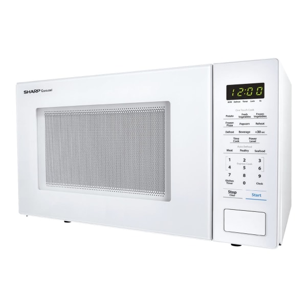 Sharp Carousel 1.1 Cu Ft Microwave Oven, White