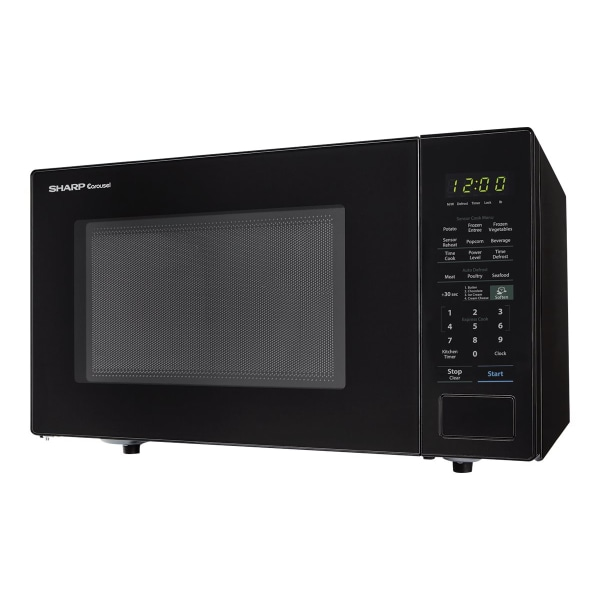 Sharp Carousel 1.4 Cu Ft Microwave Oven, Black