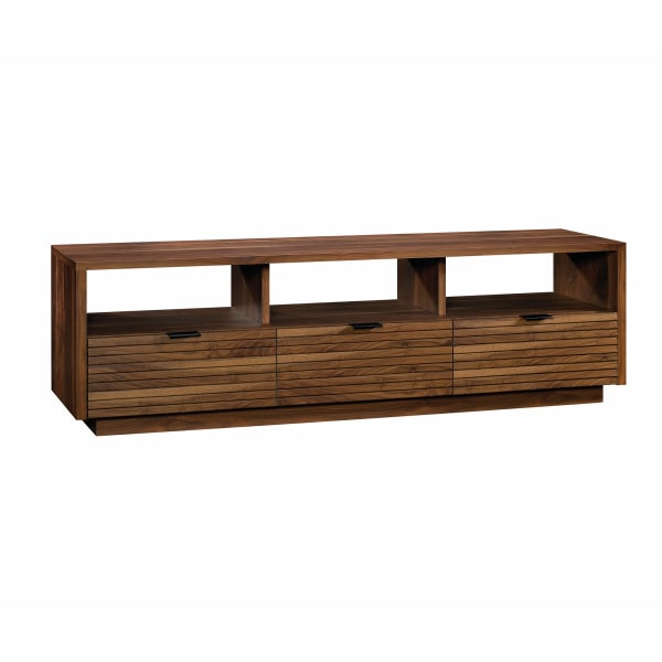 Sauder Harvey Park Entertainment Credenza For 70  Televisions, Grand Walnut