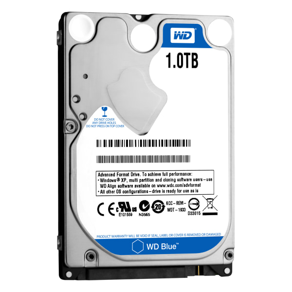 WD Mainstream 1TB Internal Hard Drive For Laptops, 8GB Cache, SATA/300