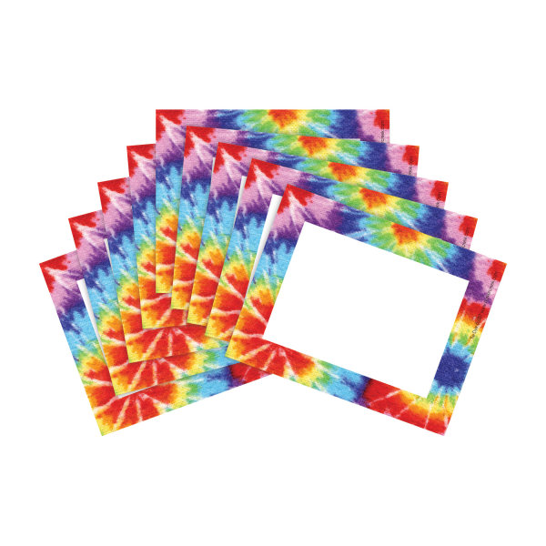 Barker Creek Name Tags, 3 3/4  x 2 1/2 , Tie Dye, 45 Name Tags Per Pack, Case Of 2 Packs