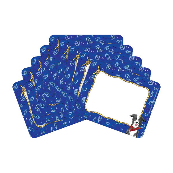 Barker Creek Name Tags, 3 3/4  x 2 1/2 , Western, 45 Name Tags Per Pack, Case Of 2 Packs